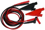 AEMC Instruments 2124.84 Lead - Set of 2, Color-coded Leads {1.5m} (red/black 4mm straight, 4mm right angle), with Color-coded Safety Alligator Clips (red/black)