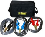 AEMC Instruments 2119.86 Lead ¿ Set of 3, Color-coded 25ft 5kV Safety with Integral Hippo Clips for use with Megohmmeter Models 5050/5060/5070/6505    [Jumper lead not included]