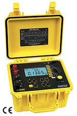 AEMC Instruments 2129.81 Micro-Ohmmeter Model 6250 (10A, Instantaneous, Continuous, Multiple Test, Manual/Auto Temperature Compensation; includes 10A Kelvin Clips (Hippo) and DataView® Software)